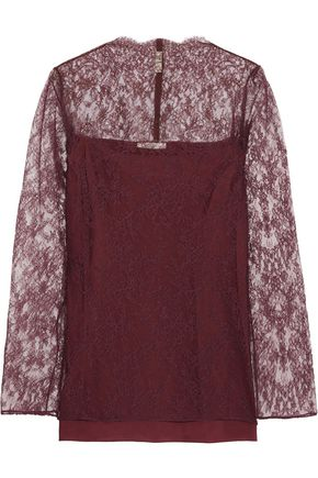 NINA RICCI Corded lace mini dress