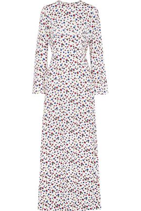 MSGM Printed crepe maxi dress