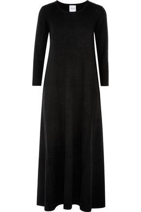 MADELEINE THOMPSON Nero wool and cashmere-blend maxi dress