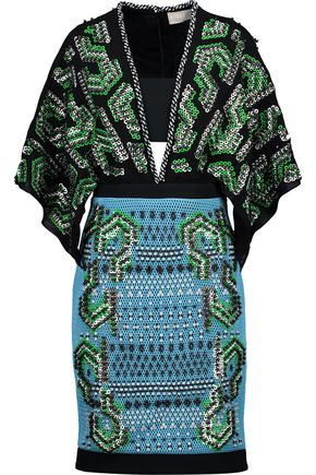 PETER PILOTTO Cara embellished silk-blend georgette and mesh dress