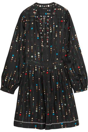 Rabea Embellished Printed Silk Dress by Isabel Marant