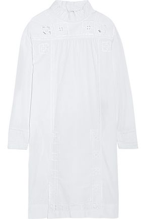 ISABEL MARANT Embroidered cutout cotton dress