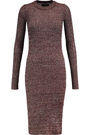 ISABEL MARANT Marled stretch-knit midi dress