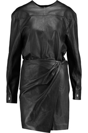ISABEL MARANT Leather mini dress