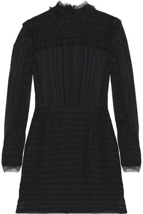 ISABEL MARANT Ramses ruffle-trimmed silk and linen-blend mini dress