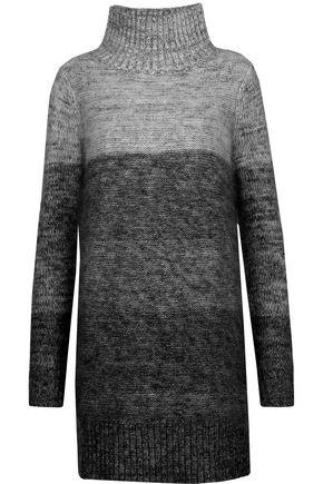 RAG & BONE Melina dégradé wool and silk-blend turtleneck mini dress