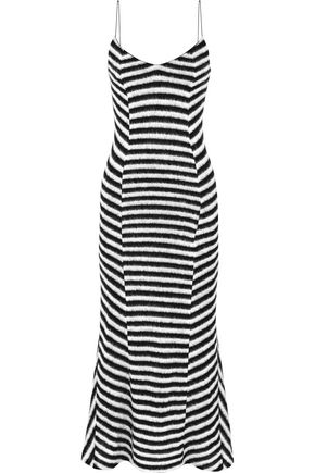 HAIDER ACKERMANN Striped stretch-knit dress