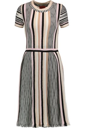 MISSONI Crochet-knit wool-blend dress