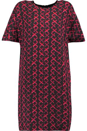 MSGM Printed crepe mini dress