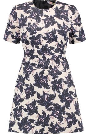 MSGM Printed cotton mini dress