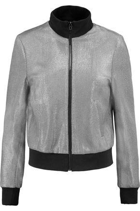 MSGM Metallic woven bomber jacket