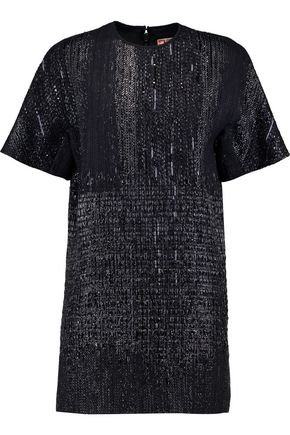 MSGM Metallic bouclé mini dress