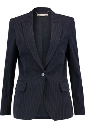 STELLA McCARTNEY Iris pinstriped wool-blend twill blazer