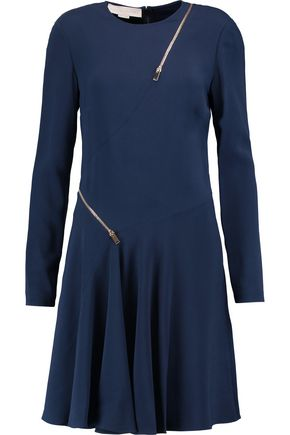 STELLA McCARTNEY Zip-embellished crepe dress
