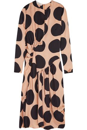 STELLA McCARTNEY Polka-dot silk midi dress