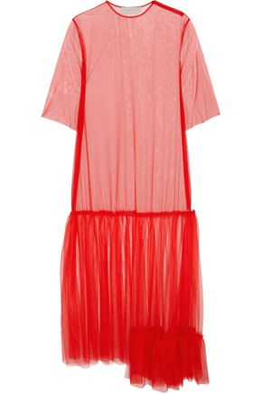 STELLA McCARTNEY Marianna tiered mesh maxi dress