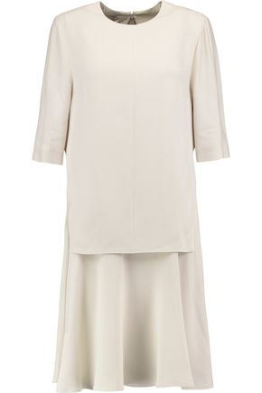 STELLA McCARTNEY Layered stretch-crepe mini dress