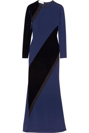 STELLA McCARTNEY Antoinetta velvet-paneled crepe gown