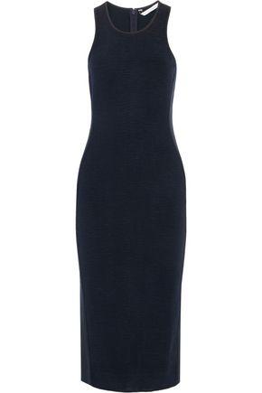 DIANE VON FURSTENBERG Teyla jersey-paneled cloqué midi dress