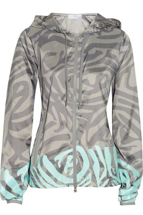 ADIDAS by STELLA McCARTNEY Travel Pack zebra-print shell jacket