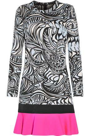 EMILIO PUCCI Paneled jacquard mini dress