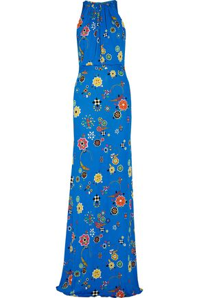 EMILIO PUCCI Gathered printed stretch-jersey gown
