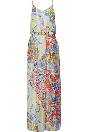 EMILIO PUCCI Cutout printed silk-gauze maxi dress