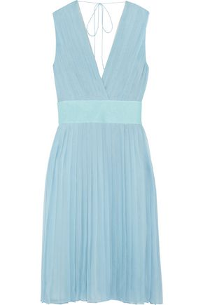 EMILIO PUCCI Sequin-embellished pleated silk crepe de chine dress
