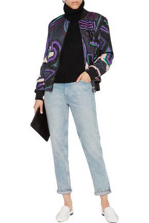 EMILIO PUCCI Quilted jacquard jacket; EMILIO PUCCI Quilted jacquard jacket  ...