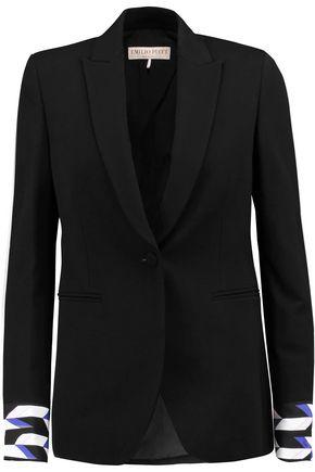EMILIO PUCCI Printed crepe-trimmed twill blazer