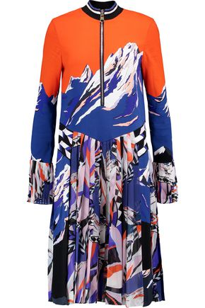 EMILIO PUCCI Pleated printed silk dress