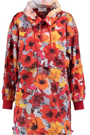 ADIDAS by STELLA McCARTNEY Floral-print shell hooded jacket