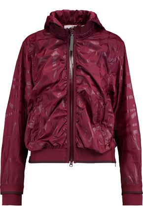 ADIDAS by STELLA McCARTNEY Crinkled shell hooded jacket