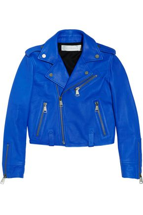 VICTORIA, VICTORIA BECKHAM Cropped leather biker jacket