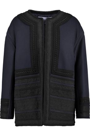 VALENTINO Embroidered padded wool-blend felt jacket