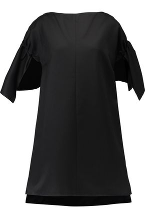 VICTORIA, VICTORIA BECKHAM Ruffled cotton-gabardine mini dress