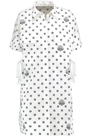 VICTORIA, VICTORIA BECKHAM Printed cotton mini shirt dress