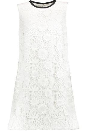 VICTORIA, VICTORIA BECKHAM Guipure cotton-lace mini dress