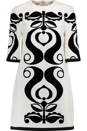 VICTORIA, VICTORIA BECKHAM Tabbard devoré cotton mini dress