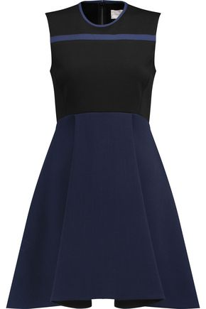 VICTORIA, VICTORIA BECKHAM Stretch-knit and wool-crepe dress