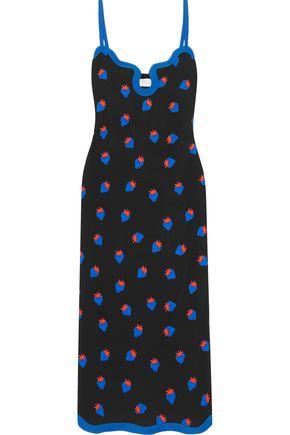 VICTORIA, VICTORIA BECKHAM Printed crepe midi dress