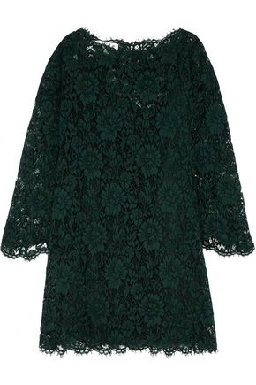 VALENTINO Silk guipure lace mini dress