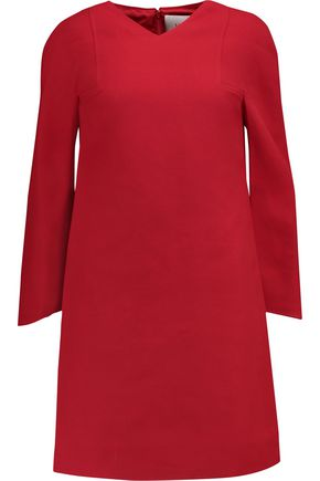 VALENTINO Paneled wool and silk-blend mini dress