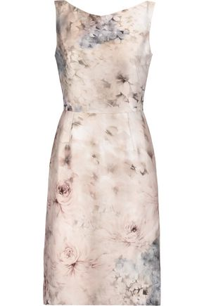 VALENTINO Printed cotton and silk-blend dress
