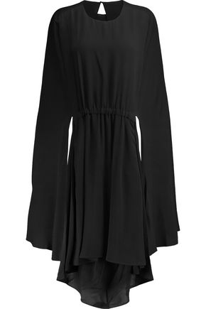 VALENTINO Draped silk-chiffon mini dress