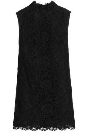 VALENTINO Corded lace cotton-blend mini dress