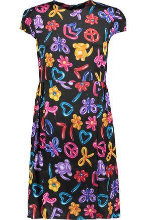 LOVE MOSCHINO Printed satin dress