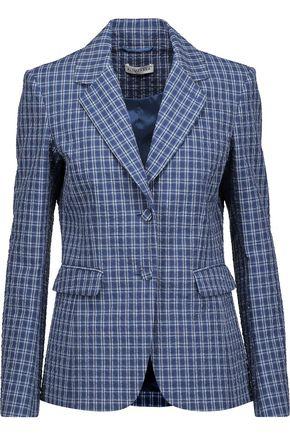 ALTUZARRA Fenice crinkled plaid stretch-cotton blazer