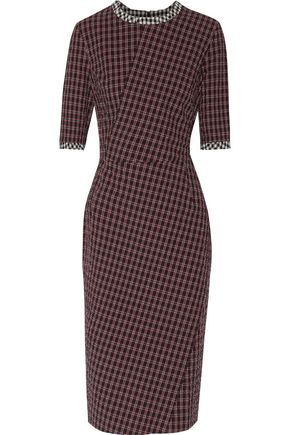 ALTUZARRA Anna checked cotton-blend seersucker dress