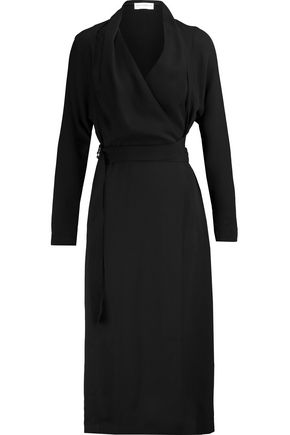 AMANDA WAKELEY Katrine belted wrap-effect silk-chiffon midi dress